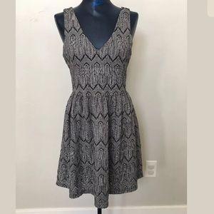 Gray and white knit dress
